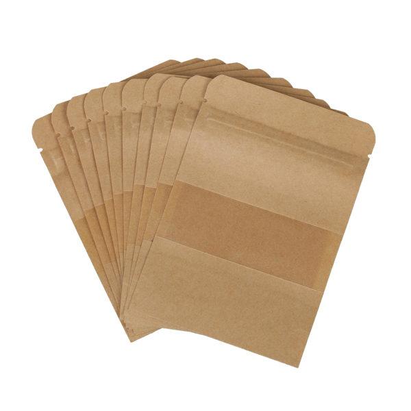 Coffee Seeds Sweets Ziplock Seal Kraft Paper Bag