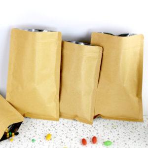 Kraft Paper Doypack Zip Lock Pouch