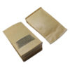 Stand Up Kraft Paper Zip Lock Self Sealing Packing