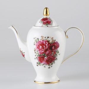 Europe Vintage Rose Bone China Coffee Set