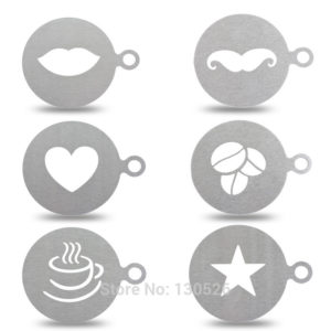 New Stainless Steel Coffee Stencil
