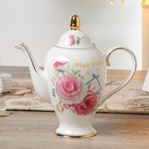 Europe Romantic Rose Bone China Coffee Set