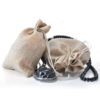 50 Pack, 3 Sizes Beige Coffee Accessories Pouch