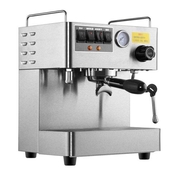 silver color coffee machine
